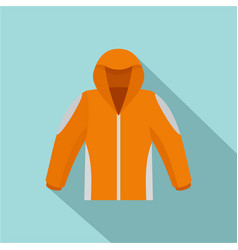 Climbing jacket icon flat style vector