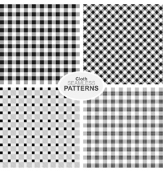 Collection of seamless textile patterns vector image