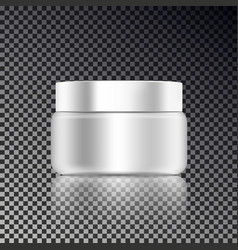 cosmetic cream ads template blank cosmetic mockup vector image