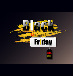 Design black friday black and yellow tone for use vector