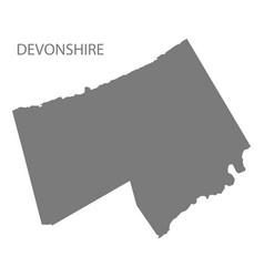 Devonshire bermuda map grey vector