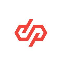 dp letter infinity mark monogram logo icon vector image
