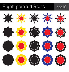eight-pointed stars vector image