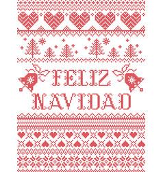 Feliz navidad seamless christmas pattern vector