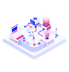 flat color modern isometric design - creative vector image
