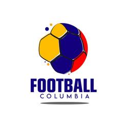 Football columbia logo template design vector