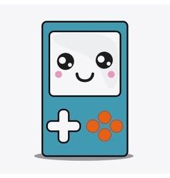 game control icon Kawaii and technology vector image