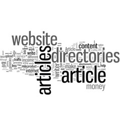 How to make money with article directories vector