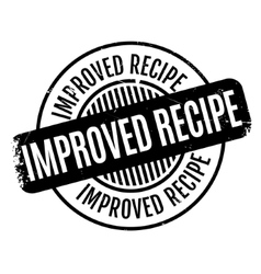 Improved Recipe rubber stamp vector
