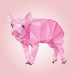 Isolated Pig made with triangles design vector image