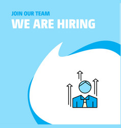 join our team busienss company avatar we are vector image