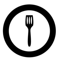 Kitchen spatula icon black color in circle vector