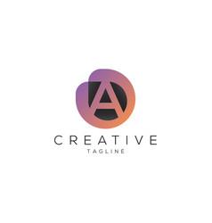 letter a professional logo design image vector image
