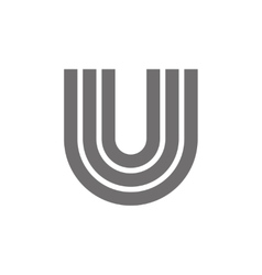 Letter U Logo Concept Icon vector