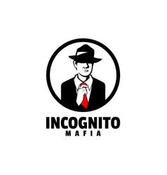 logo incognito silhouette style vector image