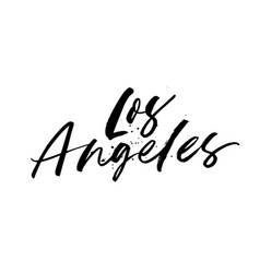 los angeles phrase modern calligraphy vector image