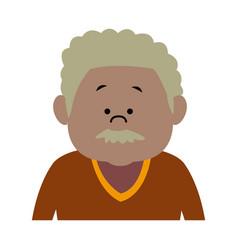 man male cartoon portrait senior person character vector image