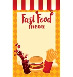 menu price fast food vector image