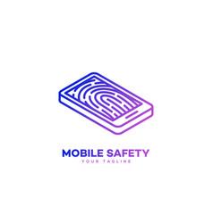 Mobile safety logo vector