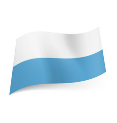 national flag of san marino white and blue vector image
