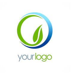 nature bio ecology leaf logo vector image