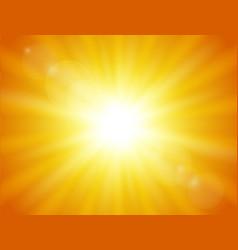Nature orange background shining sun vector