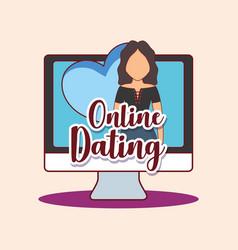 Online dating design vector