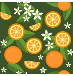 Orange flowers seamless texture vector