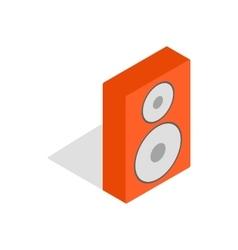 Orange speaker icon isometric 3d style vector image