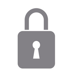 padlock security data protection privacy vector image