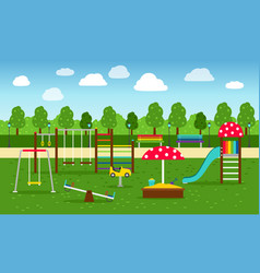 park playground background vector image