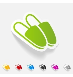 Realistic design element slippers vector