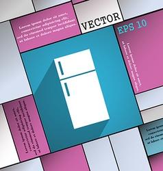 Refrigerator icon symbol Flat modern web design vector