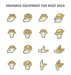 Rodeck and drainage equipment icon set design vector