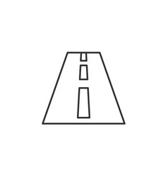 round highway line icon simple modern flat for vector image