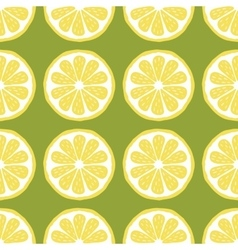 seamless pattern slices of lemon vector image vector image