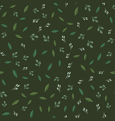 seamless pattern with different leaves vector image