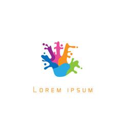 splash logo design template vector image