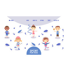 Sport for kids happy active children hobby vector