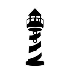 Striped lighthouse icon image vector