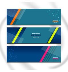 stripes of banner design vector image