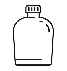 Survival water flask icon outline style vector