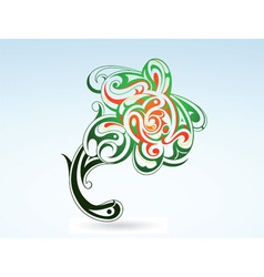 tattoo flower vector image