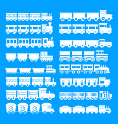 Train toy children icons set simple style vector