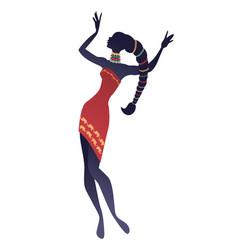 Tribal zodiac scorpio elegant woman wearing vector