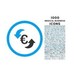 Update Euro Rounded Icon with 1000 Bonus Icons vector image