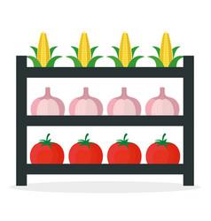 Vegetables market stall fresh vector