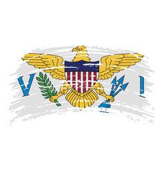 Virgin islands united states flag in grunge vector
