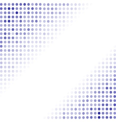 Dotted Blue Background Halftone Pattern vector image vector image