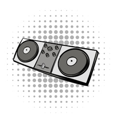 Mixing console black comics icon vector image